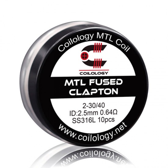 Coilology MTL Fused Clapton SS316L 0.64ohm 10бр.
