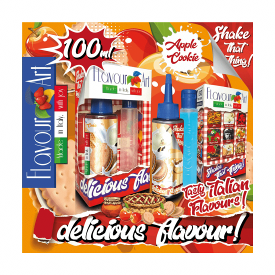 FlavourArt Apple Cookie Mix 'n' Shake (60ml plus 40ml)