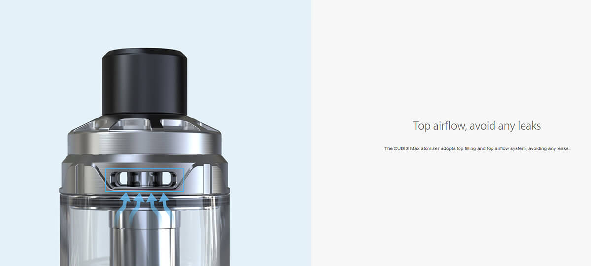 No leaks with Joyetech's Cubis Max Атомайзер 5 мл found at Vapeonbg