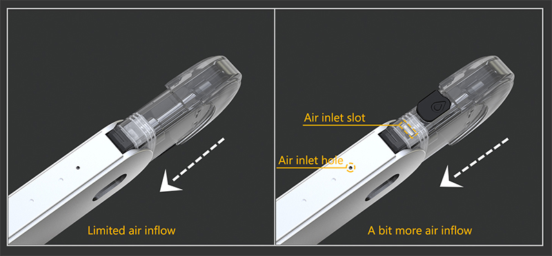 Eleaf Elven Pod Kit Different Airflows