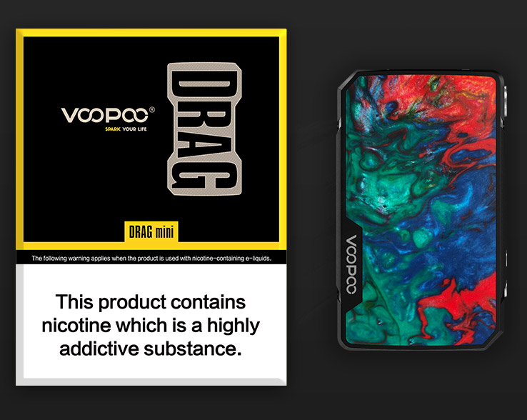 VOOPOO DRAG Mini Mod Packing Contents